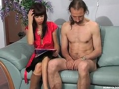 Youthful interviewer erection an desirous mature applicant show his fucking skills