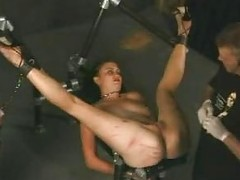 P0 Extreme pain bound needles electric torture bdsm