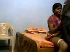 Indian Servant fucking very hard nigh houseowner connected with Bedroom