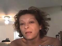 Aged Brunette Street Whore Spreading Her Pussy Lips POV
