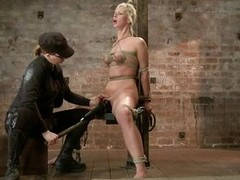Hot babe Tara is being punished by this skilled mistress. She will have the sex experience of her life so this will be fun to watch! After the mistress tied her first of all that wooden beam she how in the world laid her first of all her back with the add