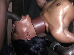 Well, if isn`t the black widely applicable Nikki plus she`s tied all round the first place that bondage device like a worthless slut. Nikki`s ebony fabrication has been oiled up plus she receives a nice rub with a vibrator all round the first place her sm
