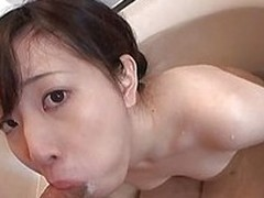 Horny japanese protest Ichigo is having a bath with her boyfriend, but all he`s thinking about are her cute titties. He plays with her nipples a little, turning the bitch on. The slut wants to return him the favour and starts sucking his cock hard. This a