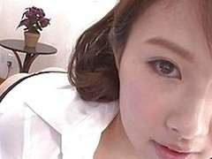Pretty japanese bitch wants to reward her horny boyfriend with a strong blowjob. She gets all sexy to turn him on, wearing only an unbuttoned shirt and her dismal bikini. The slut sits on her knees and slides his bushwa in her mouth in a gentle manner, li