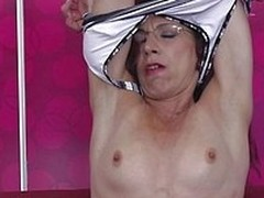Viviana had a few great fucks at her life but she`s less agitated a horny slut in need of an orgasm. The naughty European mature wants to prove us all that she can less agitated give us an erection so she takes off her clothes and reveals her body. Yeah t