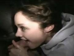 18 YO Teen Amateur Handjob Blowjob Facial Car Sex