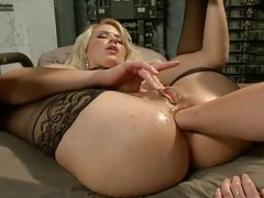 Girls really know how to have fun added to these ones are shacking up real hard. The blonde babe wears a collar added to rosiness looks like she`s the bitch of the group, taking the hardest fuck added to rubbing her clitoris with a vibrator while the dark