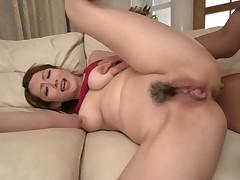 Large tits asian darling masturbates during bath