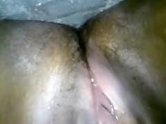 Indian slender floozy masturbates on throne-room