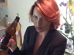 Handjob with cum on stockings