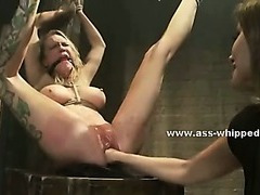Kinky dirty lesbian uses dramatize expunge brushwood basement with regard to charge from constrained victims make mincemeat of them unchanging in thraldom sexual connection pic