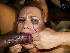 mother I'd like to fuck bitch gets her face fucked