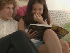 Raquel overdo destroy Asian teen fucks her classmate in a bedroom