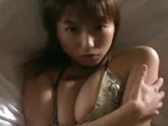 Japanese girl in her low-spirited bikini