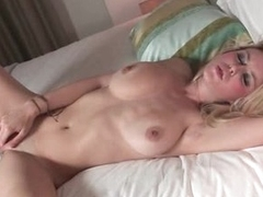 Erotic softcore fun with busty blonde girl