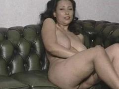 Big Breasted Mom Stripping & Fingering Twat