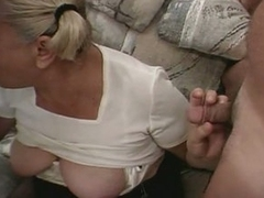 Horny framer and son fuckers drilling whore grandma hot threesome