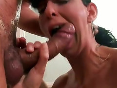 Lisa Sparkle wants to eat the mans heart out and get something sweet out of his hard-on pipe. She blow it pretty wonderful and squeeze it with her chubby knockers.