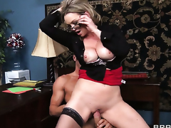 Abbey Brooks with massive breasts makes Danny Mountains anal fantasies cum true