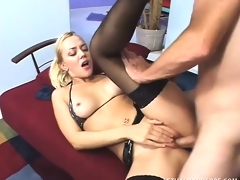 Naughty German golden-haired has a great time getting deeply plowed