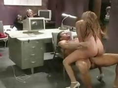 Busty Nerd Office Fuck