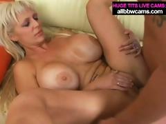 Huge tit blonde kayla gets pussy fucked hard