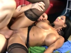 Hot mommy takes a big dick in her cockhungry cunt