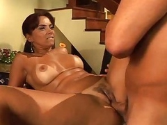 Latina with tempting curves boned in rub-down the vagina