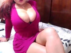 Sexxy Redhead Strips &, Toys Pussy On Web camera