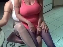Mature lesbian ladies having fun with every other