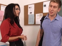 Sultry teacher Jessica Jaymes gives a lesson