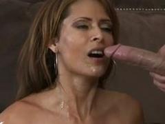 Impure big Boobed Monique Fuentes receives a fresh cum on her warm Face hole