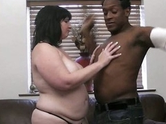 Large black cock is filling her fat hole