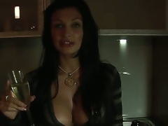 Amazing brunette bombshell Aletta Ocean with beamy boobs and hawt plump chops check into hawt party