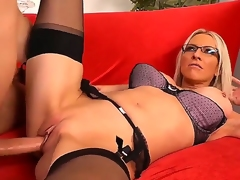 Danny Wylde becomes really cast off this day with this exciting blond in morose glasses named Emma Starr