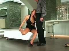 A backstage movie with buxom blonde lady Ana Monte Real and their way lover with hard cock