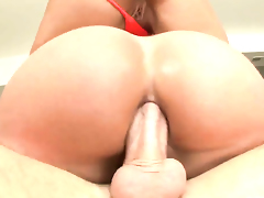 Mike Adriano has a good time fucking Monica Santhiago in the deadeye after she gets her mouth fucked