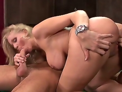 Of course, this is the classical situation. Danny Mountain comes to visit his friend but finds his voluptuous step-mom Julia Ann instead. She pisses off he is still in his pants!