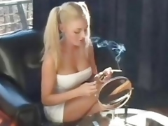 Blonde Smoking Girl