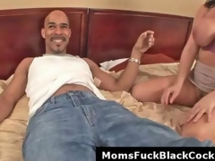 Big boobs milf Angelica gets facial from black monster cock