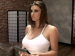 Sara Stone is a hot pornstar with a curvy body and giant titties. Watch her undress to unleash her giant racks and tempt a man into licking her sweet spot. Watch Sara Stone get turned on and start grinding on top of her partner's unyielding cock with her wet cu