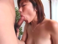 Busty Japanese Miki Kino taking a cowgirl ride