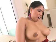 Nasty cock riding for ebony