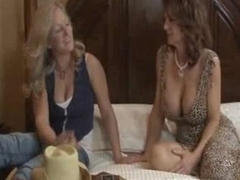 Busty lesbos action with squirting