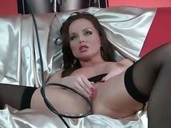 Gloomy stockings are morose on Sylvia Saint