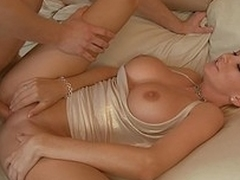 His father's breasty chick gets fucked