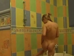 Tenager tAking the shower