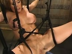 Busty milf Christina Carter gets favoured by a fucking machine