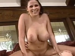 All natural GiAnna MiChaels bounces Moist vaGina along a GIant knob