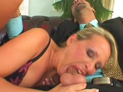 Mandy Bright having her little mamma mouth throatfucked hard with a plump dick